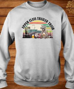 Raccoon And Opossum Upper Class Trailer Trash Vintage Shirt sweater