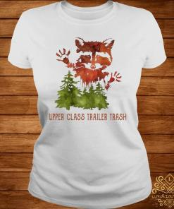 Raccoon Upper Class Trailer Trash Watercolor Art Shirt ladies-tee