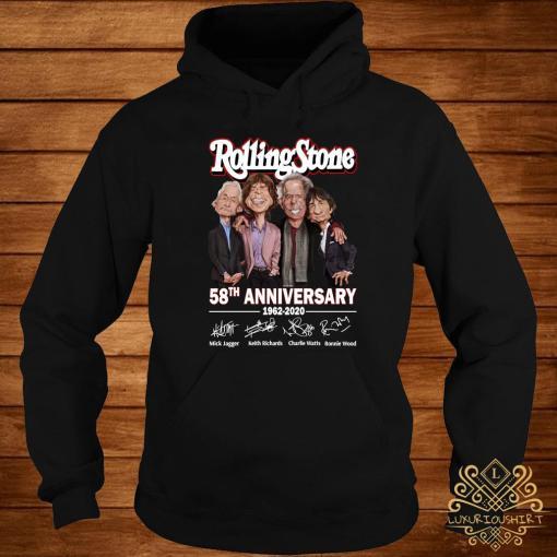 Rolling Stone 58th Anniversary 1962 2020 Signatures Shirt hoodie