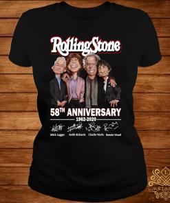 Rolling Stone 58th Anniversary 1962 2020 Signatures Shirt ladies-tee