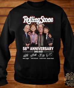 Rolling Stone 58th Anniversary 1962 2020 Signatures Shirt sweater