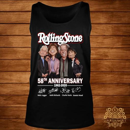 Rolling Stone 58th Anniversary 1962 2020 Signatures Shirt tank-top