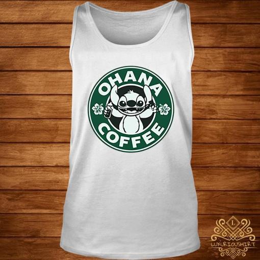 Stitch Ohana Coffee Shirt tank-top