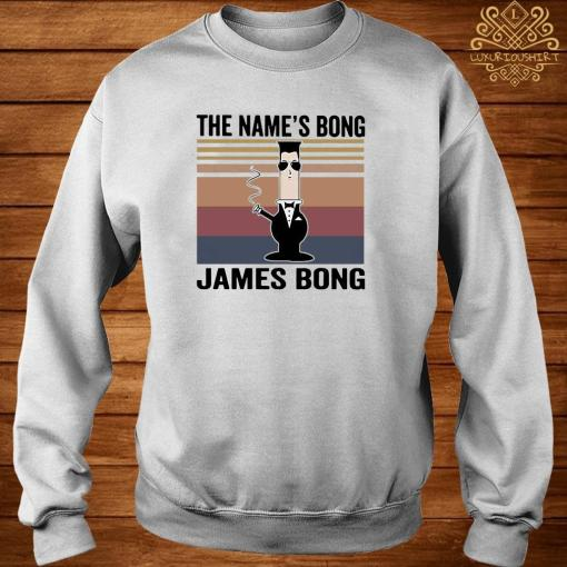 The Name's Bong James Bong Vintage Shirt sweater