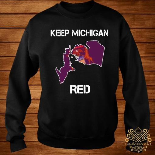 Keep Michigan Red Shirt sweater