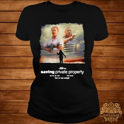 Ken And Karen Saving Private Property Shirt ladies-tee