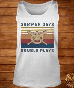 Baseball Summer Days Double Plays Vintage Shirt tank-top