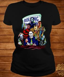 Horror Character Rolling Rock Shirt ladies-tee