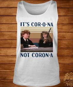Ron Weasley And Hermione Granger It's Corona Not Corona Vintage Shirt tank-top