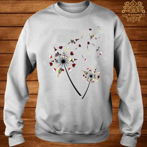 Wine Dandelion Flower Shirt sweater