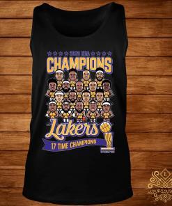 2020 NBA Champions Lakers 17 Time Champions Shirt tank-top