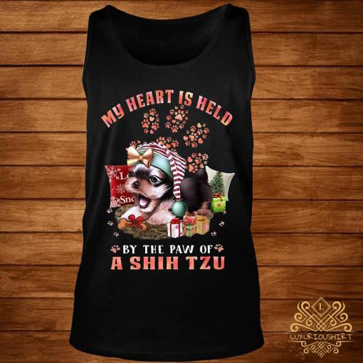 My Heart Is Held By The Paw Of A Shih Tzu Shirt tank-top