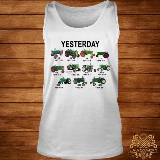 Yesterday Tractors Shirt tank-top