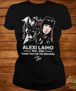 Alexi Laiho 1979 2020 Thank You For The Memories Signature Shirt ladies-tee