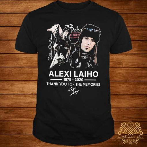 Alexi Laiho 1979 2020 Thank You For The Memories Signature Shirt