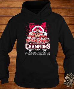 Allstate Sugar Bowl Champions Ohio State Buckeyes 49 Clemson Tigers 28 Signatures Shirt hoodie