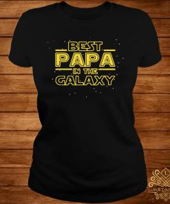Best Papa Galaxy Birthday Father's Day Shirt ladies-tee