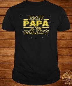Best Papa Galaxy Birthday Father's Day Shirt