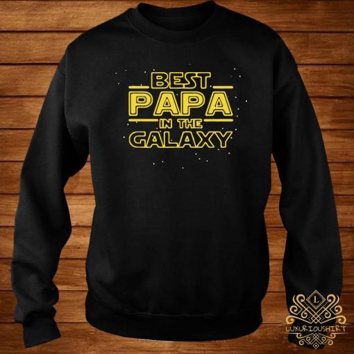 Best Papa Galaxy Birthday Father's Day Shirt sweater