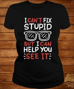 I Can't Fix Stupid But I Can Help You See It Shirt ladies-tee