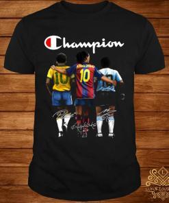 Pele Ronaldinho And Diego Maradona Champion Signatures Shirt