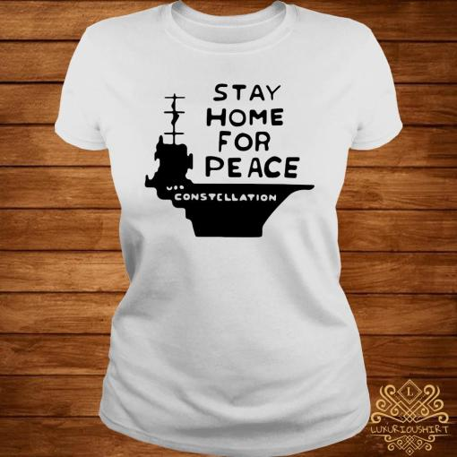 Stay Home For Peace Joan Baez Shirt ladies-tee