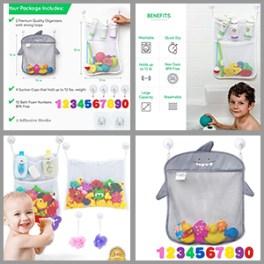 Best bath toy organizer