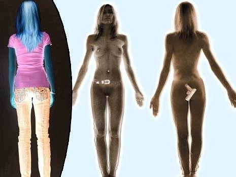 Body x-ray scanner airport