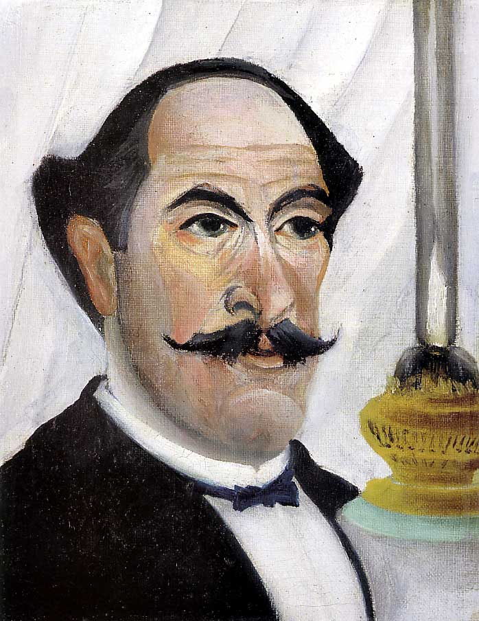 Henri_Rousseau Self-portrait_of_the_Artist_with_a_Lamp