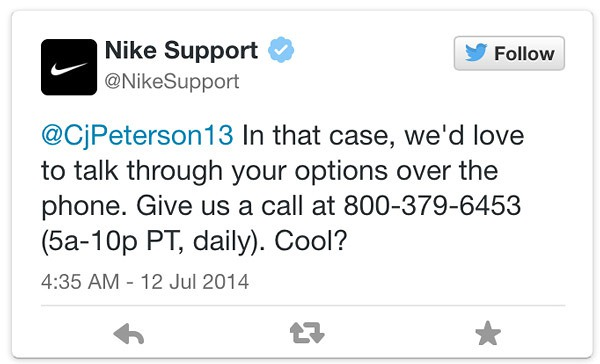 Nike customer support