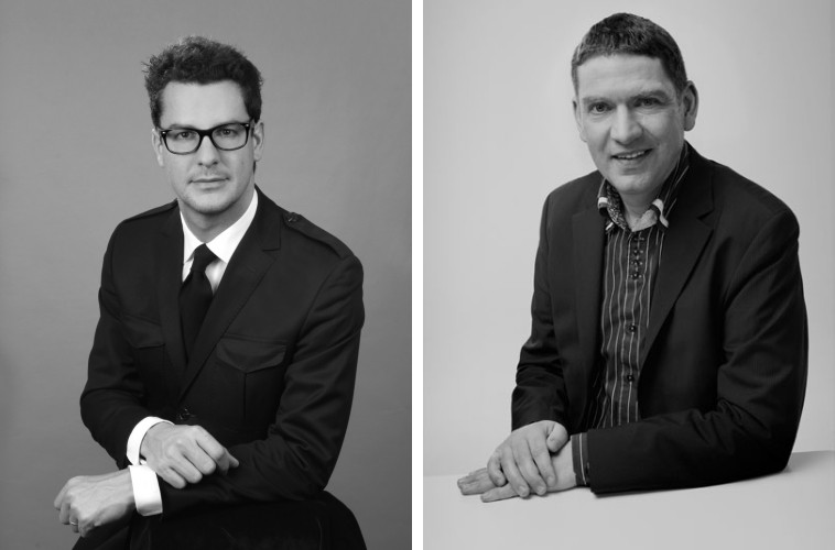 The founder Vincent Dupontreué and the creative watchmaker Jean-François-Mojon