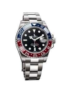 Hvis du er Rolex-fan, ved du, at denne version af det ikoniske GMT-Master er lavet af hvidguld og ikke stål.