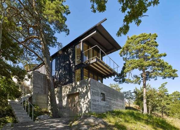 Tagudhænget er inspireret af grundens oprindelige hus – et kinesisk, pagodelignende tehus.