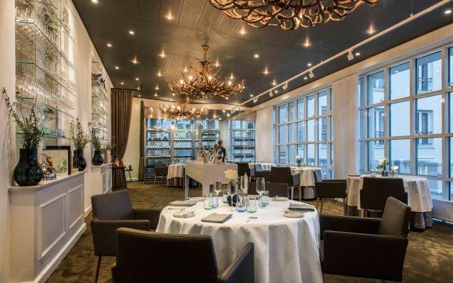 Stilen på 'The Restaurant by Kroun' er nordisk med mange facetter.
