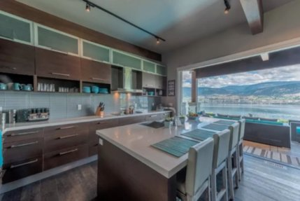 okanagan lake front concrete house airbnb 6