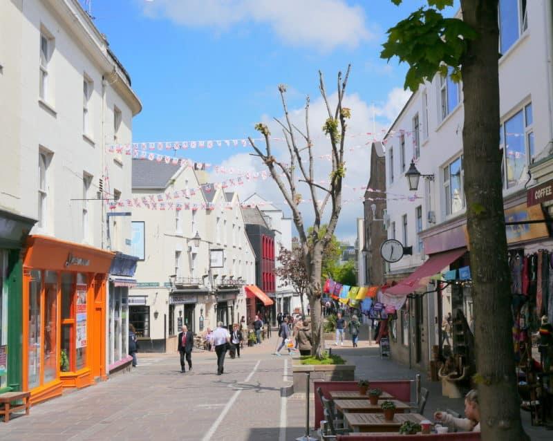 St Helier pedestrianised street