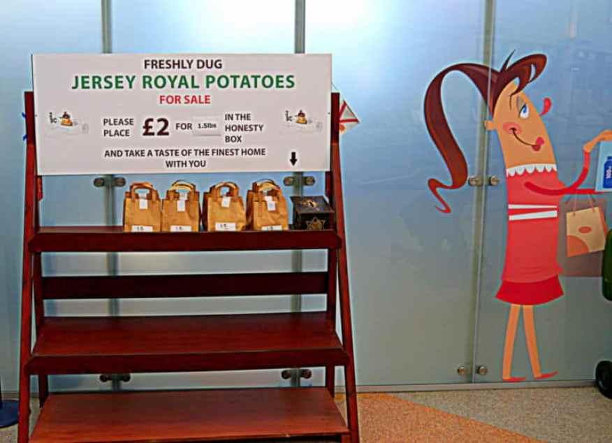 Jersey Airport potatoes