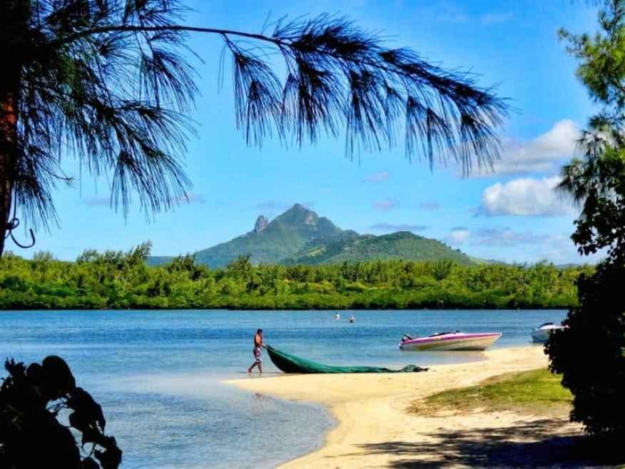 Mauritius fisherman beach