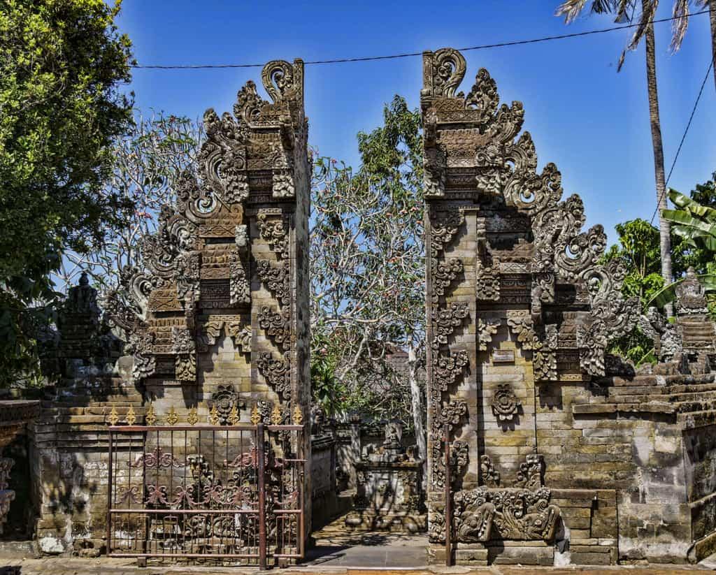 Balinese temple doors