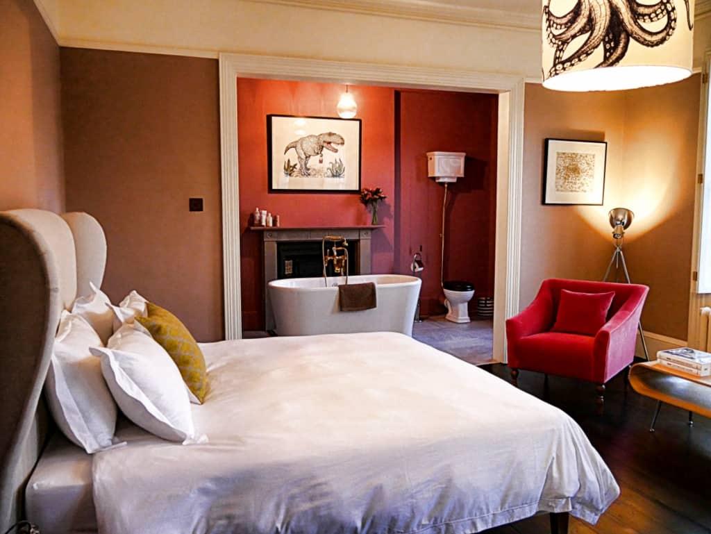 Shepherd's hotel room