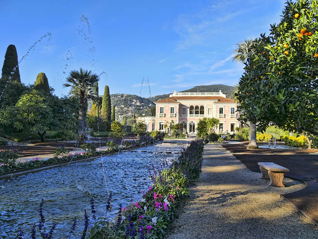 Villa Ephrussi de Rothschild fountains
