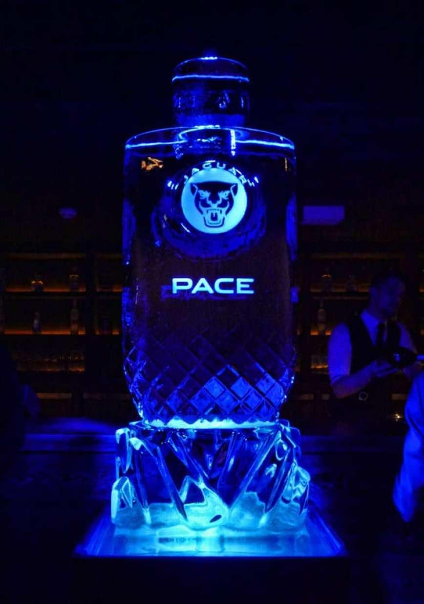 Jaguar Pace ice sculpture London