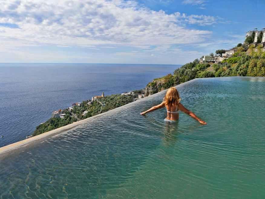 Monastero Santa Rosa swimming pool Luxury Columnist