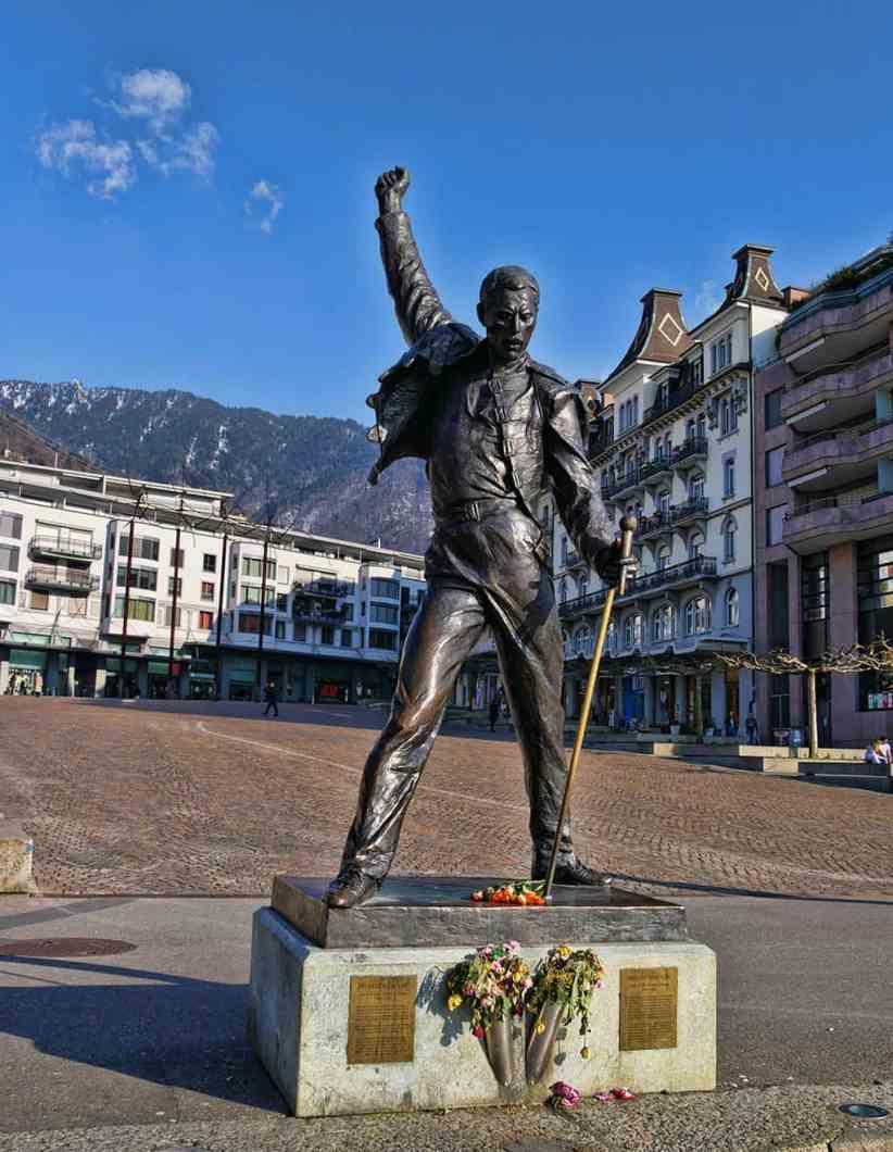 Freddie Mercury's statue in Montreux, Switzerland - Luxury Columnist - style, travel & photography blog
