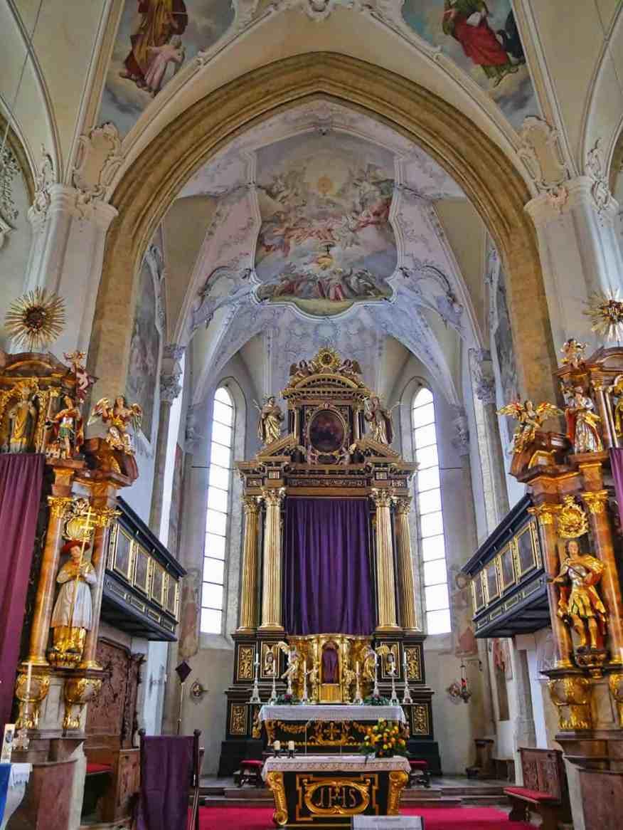 The church in Kitzbuehel, Austria