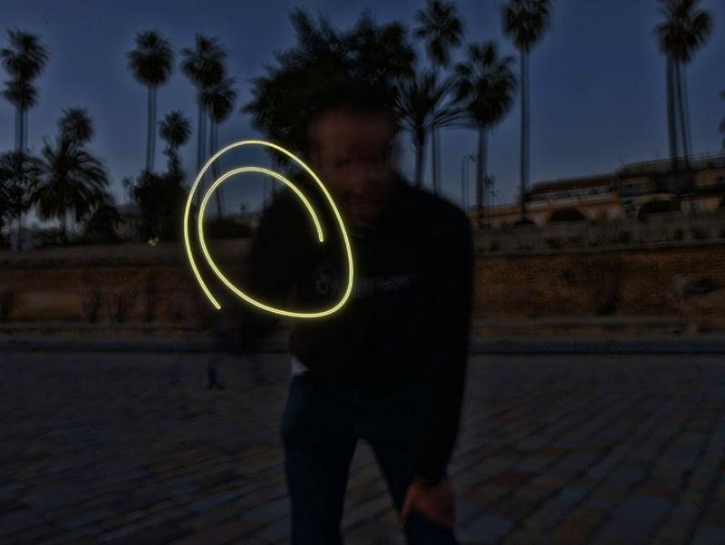 smartphone light trail