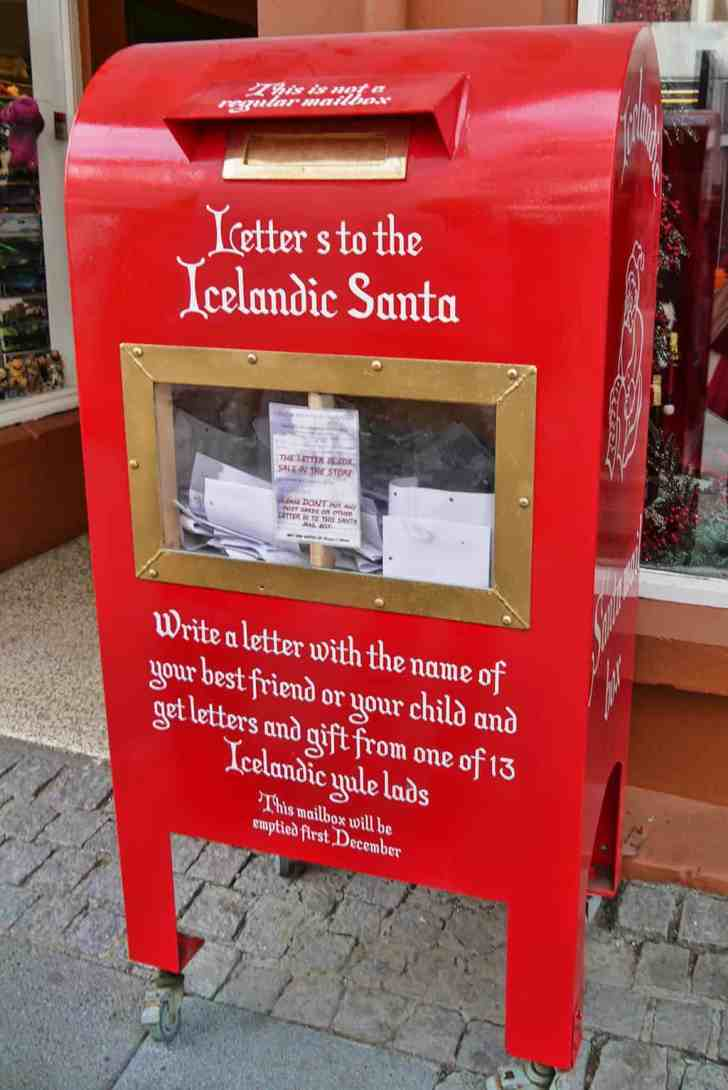 Letters to the Icelandic Santa - a postbox in Reykjavik, Iceland