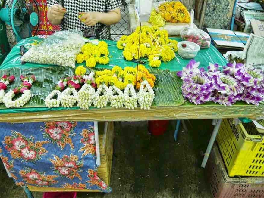 The wholesale flower market in Bangkok, Thailand