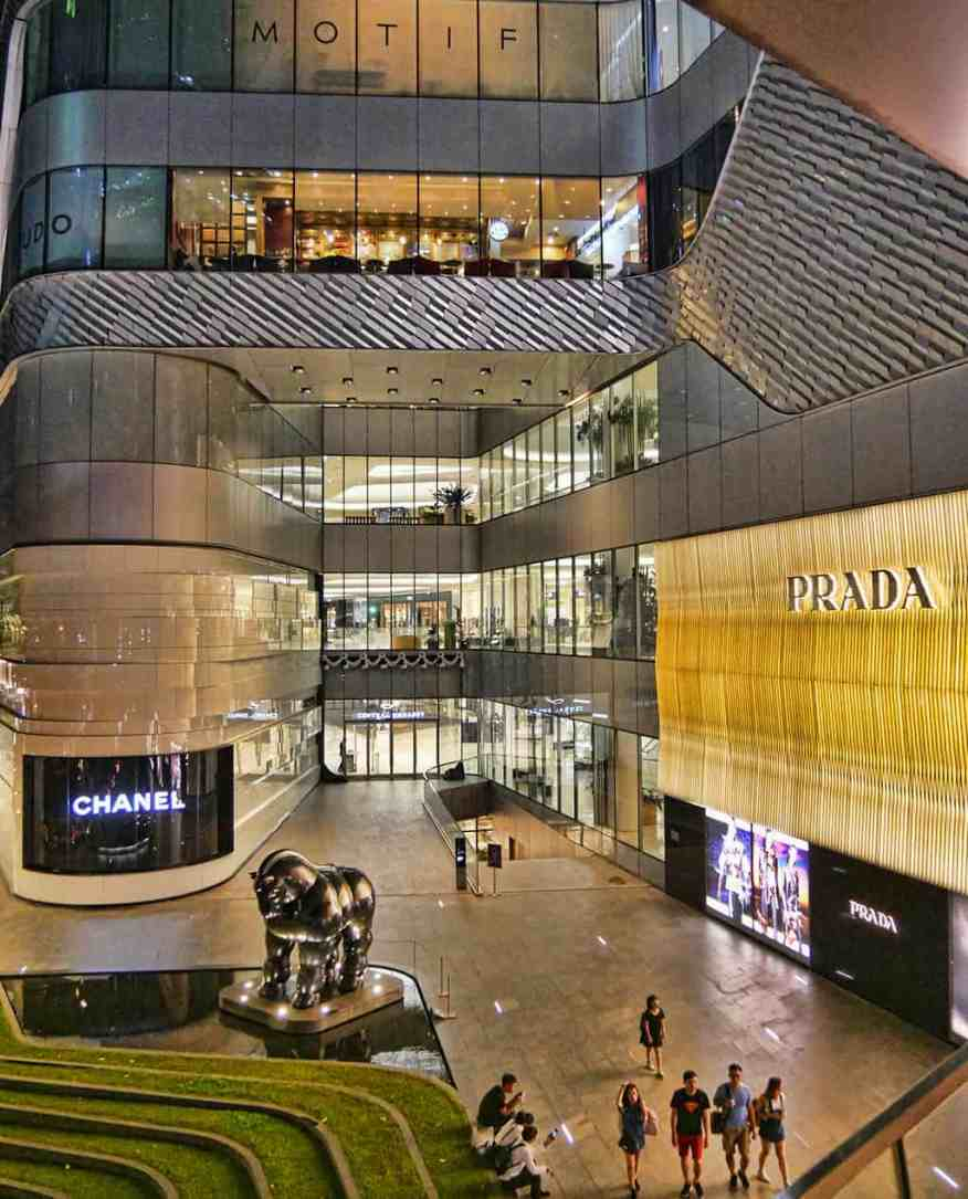 One of the many luxury shopping malls in Bangkok, Thailand
