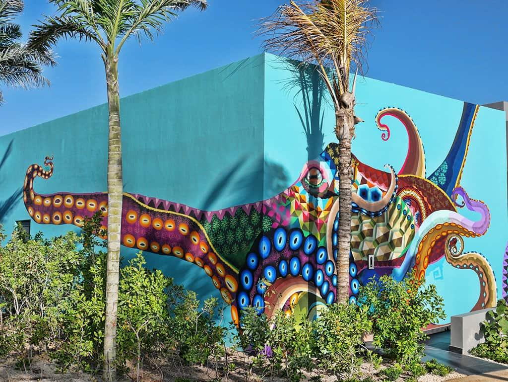 Andaz Mayakoba Senkoe octopus mural
